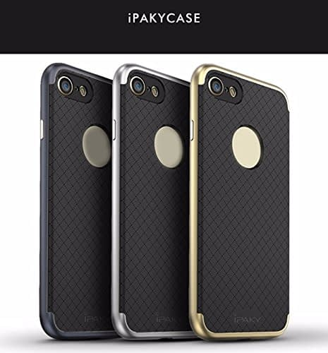 iPaky Premium TPU+PC Hybird Armor Protective Back Bumper Case Cover for Apple Iphone 7 - Gold Chrome 3