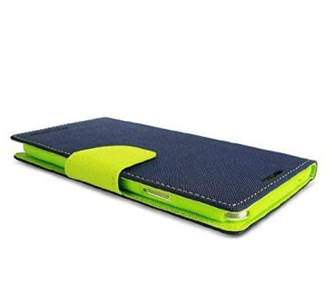 DW Mercury Fancy Diary CARD Wallet Flip Case Back Cover for Micromax Unite 3 Q372 ( Blue+Green ) 6