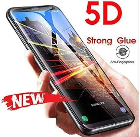 Royal Star 5D Curved (Full Glue) 9H Screen Tempered Glass Protector Guard for (Samsung S9 Plus, Black) 7