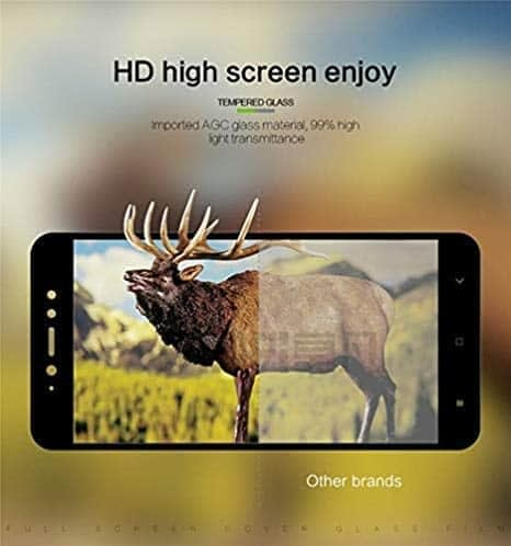 Royal Star 6D Full Glue 9H Full Coverage Edge to Edge 2.5D Curved Screen Tempered Glass Protector Guard for (Xiaomi Mi A2, Black) 6