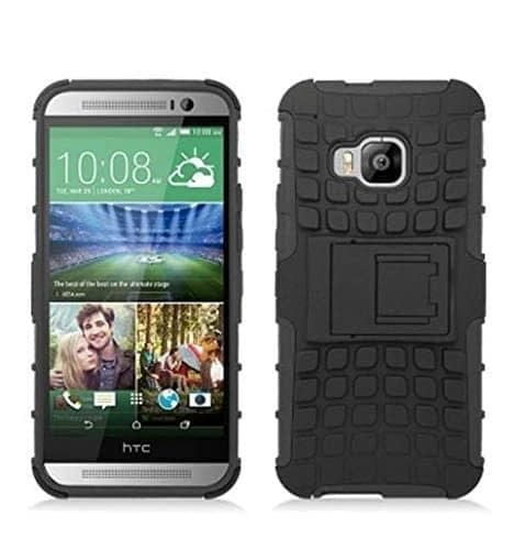 DW Kick Stand Spider Hard Dual Rugged Armor Hybrid Bumper Back Case Cover For HTC One M9 - Black 1