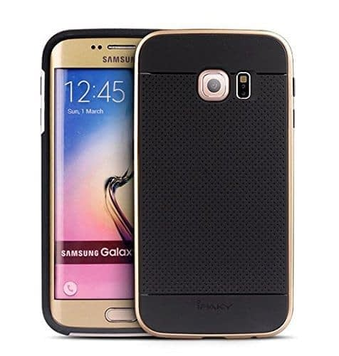 iPaky Hybrid Ultra Thin Shockproof Back + Bumper Case Cover for Samsung Galaxy S6 Edge - Gold 4