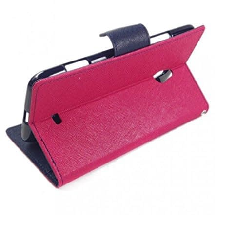 J.N. Mercury Flip Cover for Micromax A116 in-Pink 3
