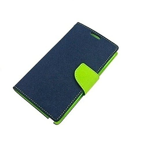 J.N. Mercury Flip Cover for Micromax A116 in Blue Green 3
