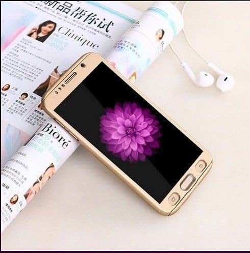 Royal Star(TM) 360 DEGREE FULL BODY PROTECTION Front + Back Cover Case with Tempered Glass For SAMSUNG GALAXY Grand Prime G530 ( Champagne Gold ) 1