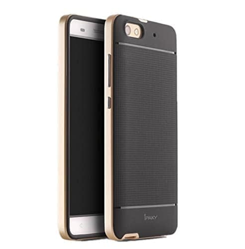 iPaky Premium TPU+PC Hybird Armor Protective Back Cover for Huawei Honor 4X -Golden 1
