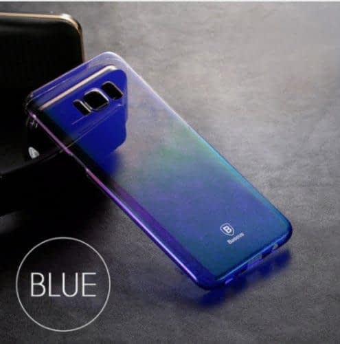 Baseus Glaze Colorful Case Ultra Thin Anti-Scratch Shockproof Double Colors Hard Plastic PC Protective Back Cover Case for Samsung Galaxy (Samsung Galaxy S8 Plus, Blue) 4