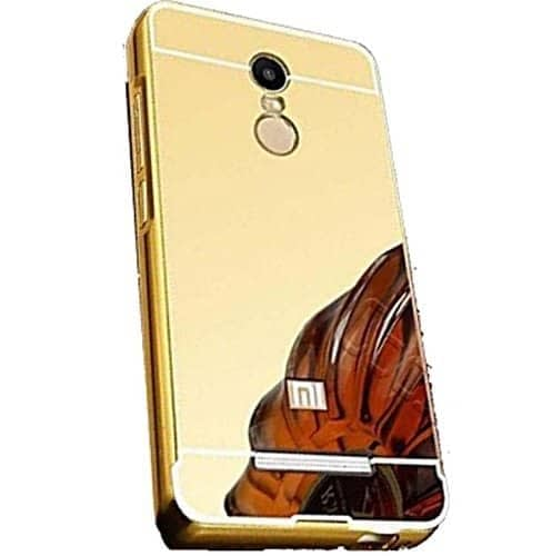 KPH Luxury Mirror Effect Acrylic back + Metal Bumper Case Cover for Xiaomi Redmi Note 3 - GOLD 1