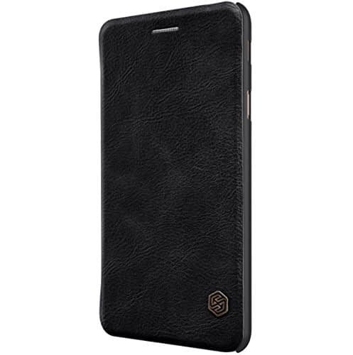 Nillkin Qin Series Royal Leather Flip Case Cover Case For Samsung Galaxy J7 Max - Black 3