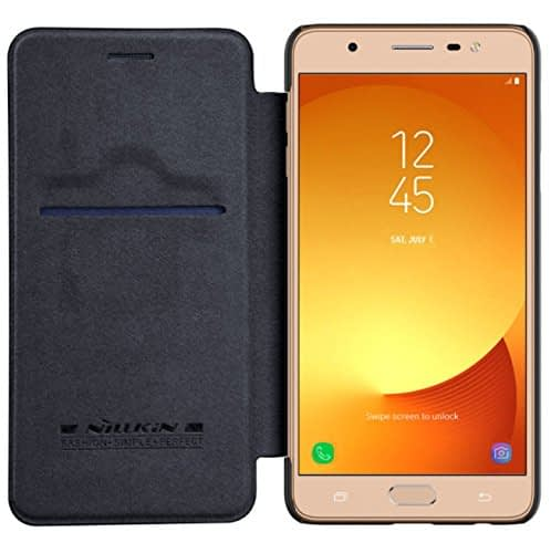 Nillkin Qin Series Royal Leather Flip Case Cover Case For Samsung Galaxy J7 Max - Black 4