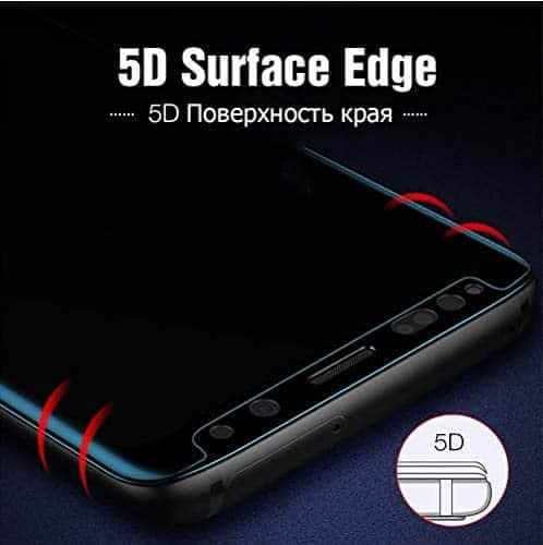Royal Star 5D Curved 9H Case Friendly (Full Glue) Screen Tempered Glass Protector Guard for (Samsung Galaxy Note 9, Black) 3