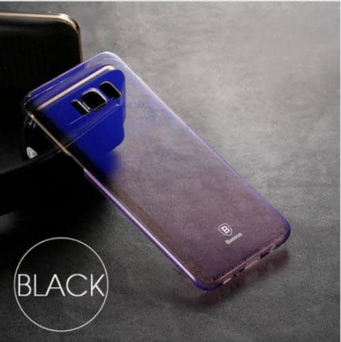 Baseus Glaze Colorful Case Ultra Thin Anti-Scratch Shockproof Double Colors Hard Plastic PC Protective Back Cover Case for Samsung Galaxy (Samsung Galaxy Note 8, Blue) 5
