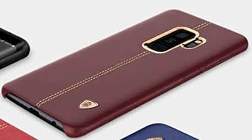 NILLKIN Englon Series Leather Back Cover Case for Samsung Galaxy (Samsung Galaxy S9, Brown) 4