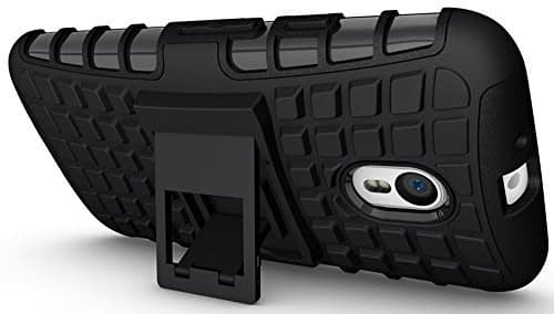 DW Kick Stand Spider Hard Dual Rugged Armor Hybrid Bumper Back Case Cover For Motorola Moto G3 ( 3rd Generation ) - Black 1