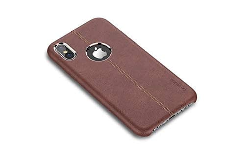 "Vorson Pu Leather Case Shock Resistance Protective Back Cover Case (Apple iPhone X/XS (5.8"") (Vorson Back Cover), Brown) 1"