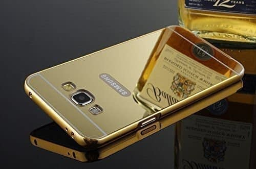 [ For Samsung Galaxy J5 2016 (J510) ] Royal Star (TM) Luxury Metal Bumper + Acrylic Mirror Back Cover Case For SAMSUNG GALAXY J5 ( 2016 Edition ) (Gold Mirror) 1