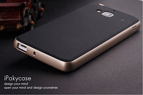 Original Ipaky Brand Luxury High Quality Ultra-Thin Dotted Silicon Black Back + Pc Gold Frame Bumper Back Case Cover For Xiaomi Redmi 2 1