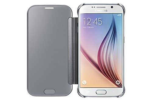 Samsung Clear View Cover for Galaxy S6 (Silver) 4