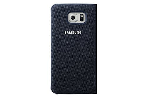 Samsung Flip Wallet Fabric Cover for Galaxy S6 Edge (Black) 3