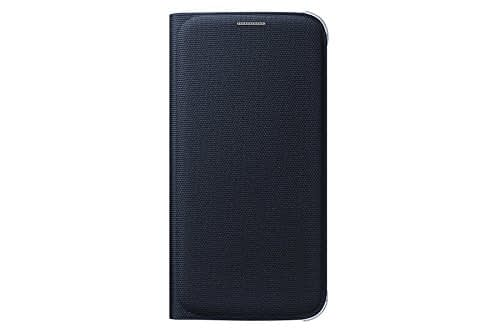 Samsung Flip Wallet Fabric Cover for Galaxy S6 Edge (Black) 1