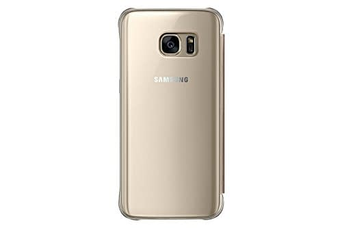 Samsung Galaxy S7 Clear view cover Gold 3