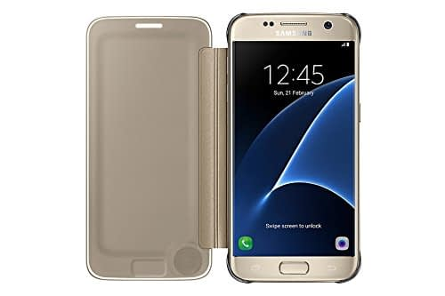 Samsung Galaxy S7 Clear view cover Gold 4