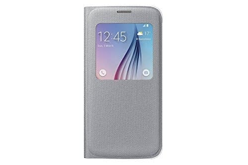 Sumsung S-View Fabric Cover for Galaxy S6 (Silver) 1