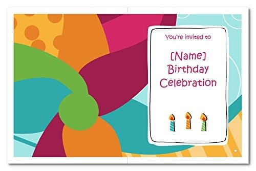 Birthday Invitation Cards for Kids With Customized Details i.e. Name, Date, Time, Venue, Size: two folded 4.20 x 5.4 inch, without envelope (Quantity 20 Cards) 3