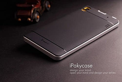 Original iPaky Brand Luxury High Quality Ultra-Thin Dotted Silicon Black Back + PC Silver Frame Bumper Back Case Cover For Lenovo K3 Note & Lenovo A7000 by Jagdamba Sales 3