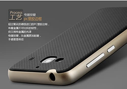 Original Ipaky Brand Luxury High Quality Ultra-Thin Dotted Silicon Black Back + Pc Gold Frame Bumper Back Case Cover For Xiaomi Redmi 2 5