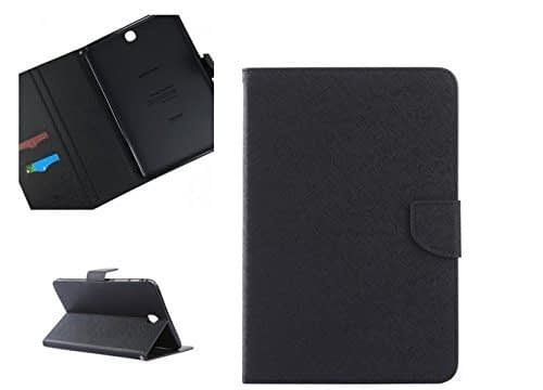 DW Mercury Folding Flip Folio PU Leather with 4 card slot Stand Case Cover for Samsung Galaxy Tab S2 9.7inch T810 Android Tablet Case - Black 1