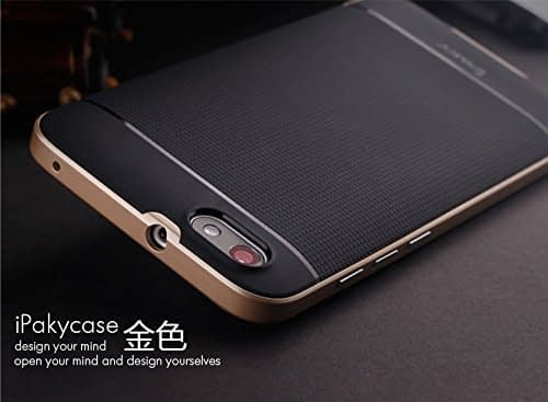 iPaky Premium TPU+PC Hybird Armor Protective Back Cover for Huawei Honor 4X -Golden 3