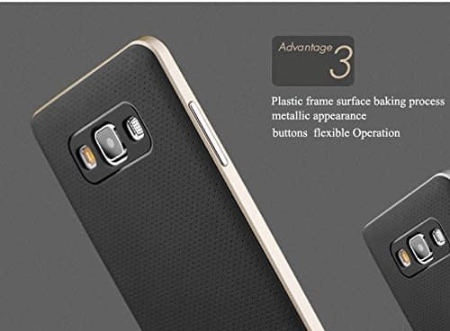 Original iPaky Brand Luxury High Quality Ultra-Thin Dotted Silicon Black Back + PC Golden Frame Bumper Back Case Cover For Samsung Galaxy A5 -Black Golden 5