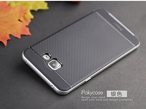 iPaky Brand High Quality Silicon Black Back + PC Silver Frame Shockproof Back Cover for Samsung Galaxy A7 -2016 Dual Sim SM-A710F 5