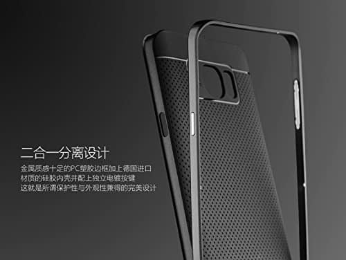 Original iPaky Brand Luxury High Quality Ultra-Thin Dotted Silicon Black Back + PC Grey Frame Bumper Back Case Cover For Samsung Galaxy Note 5 Dual SIM -Black 6