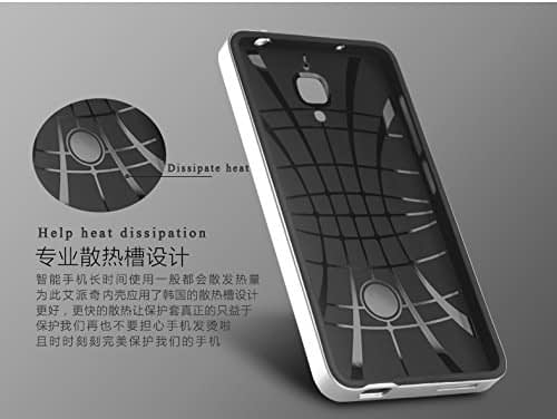 Original iPaky Brand Luxury High Quality Ultra-Thin Dotted Silicon Black Back + PC Silver Frame Bumper Back Case Cover For Xiaomi mi 4 - Black Silver 5