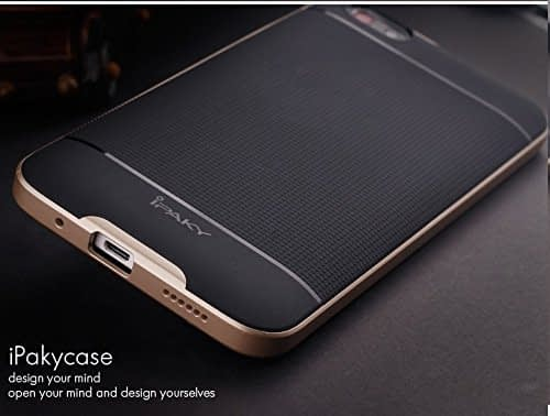iPaky Premium TPU+PC Hybird Armor Protective Back Cover for Huawei Honor 4X -Golden 4
