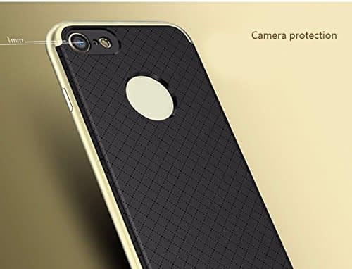 iPaky Premium TPU+PC Hybird Armor Protective Back Bumper Case Cover for Apple Iphone 7 - Gold Chrome 6