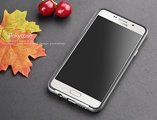 iPaky Brand High Quality Silicon Black Back + PC Silver Frame Shockproof Back Cover for Samsung Galaxy A7 -2016 Dual Sim SM-A710F 6