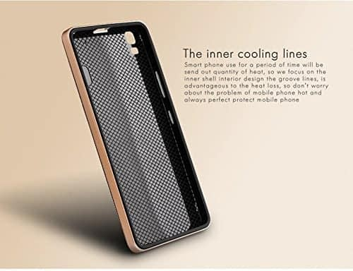 iPaky Ultra-Thin Dotted Silicon PC Gold Frame Bumper Back Case for Lenovo K3 Note & Lenovo A7000 - Black 3