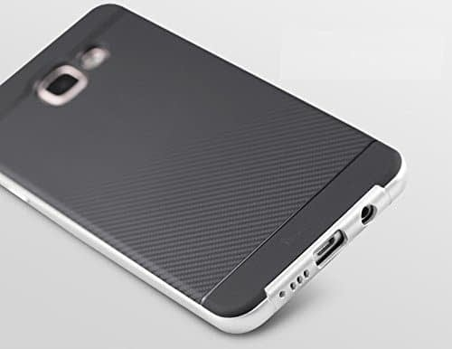 iPaky Brand High Quality Silicon Black Back + PC Silver Frame Shockproof Back Cover for Samsung Galaxy A7 -2016 Dual Sim SM-A710F 3