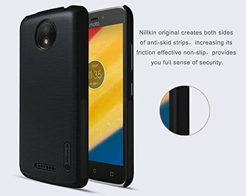 Nillkin Frosted Shield Ultra Thin Hard Plastic Back Cover Case for Motorola Moto C Plus (5 inch)- Black 1
