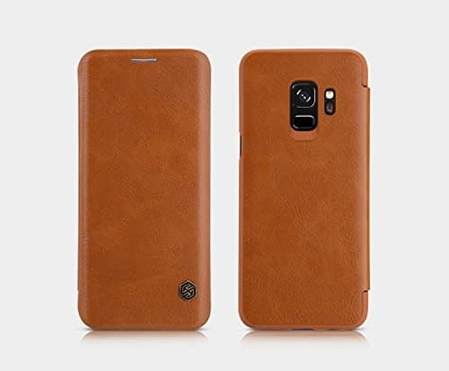 Nillkin Qin Series Royal Leather Flip Case Cover for Samsung Galaxy S9 (BROWN) 8