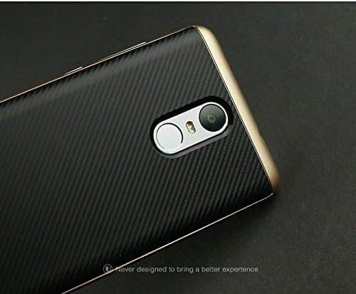 iPaky Luxury Ultra-Thin Dotted Silicon Back + PC Gold Frame Bumper Back Case Cover for Xiaomi Redmi Note 3 ,Gold 4