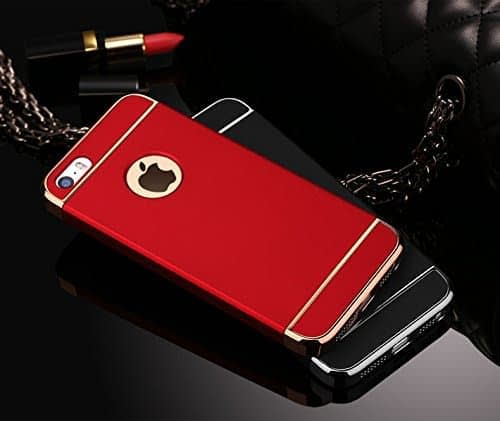 iPaky Chrome 3 Piece Hybrid Protective Back Case Cover for Apple iPhone 6 Plus / 6S Plus - Red 4