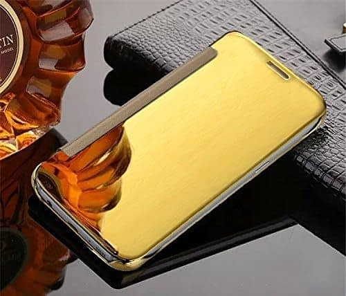 Royal Star Luxury Clear View Mirror Flip Smart Cover Case for Samsung Galaxy S7 Edge (Gold) 6