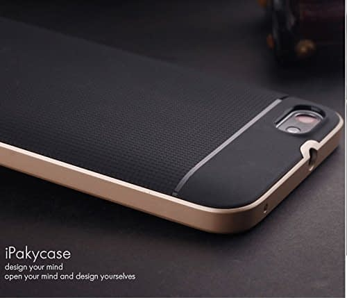 iPaky Premium TPU+PC Hybird Armor Protective Back Cover for Huawei Honor 4X -Golden 5