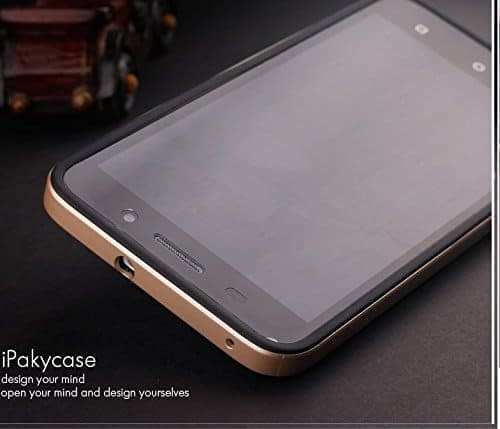 iPaky Premium TPU+PC Hybird Armor Protective Back Cover for Huawei Honor 4X -Golden 6
