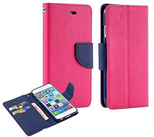 J.N. Mercury Fancy Diary Wallet Flip Case Back Cover for Micromax A114 Canvas 2.2 - Pink 1