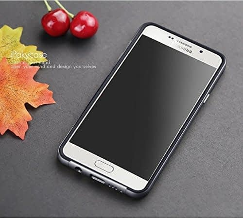 iPaky Brand High Quality Silicon Black Back + PC Grey Frame Shockproof Back Cover for Samsung Galaxy A7 -2016 Dual Sim SM-A710F 5